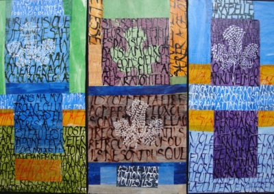 1Triptyque Figuier - 60 x 90 cm (encres et papier sur toile)